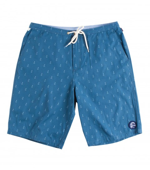 "Surf O'Neill Aye Captain Boardshorts.  Hybrid short in brushed cotton / nylon / poly blend fabric. Heavily laundered for super soft hand. Mini anchor print; drawstring closure and plenty of pockets for all day wear. 21"" outseam.Receive a one-year paid subscription to Surfer Magazine with this Jack O'Neill Originals boardshort! - $39.99"