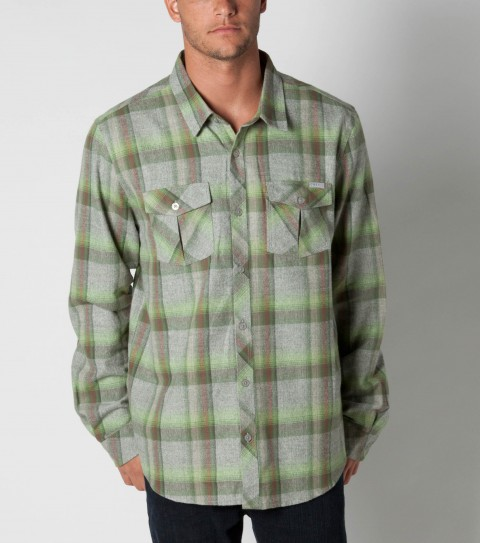 Surf O'Neill Penn Flannel is made from 100%cotton plaid.  It is a long sleeve flannel with mill finish and bio wash. Standard fit; with logo embroideries and labels. - $40.99
