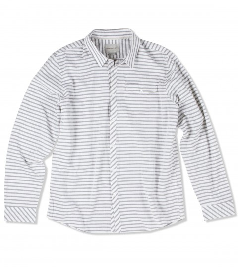 Surf O'Neill Skipper Shirt is made of 100%cotton; striped long sleeved shirt with mill finish and bio wash. Standard fit; with logo labels. - $36.99