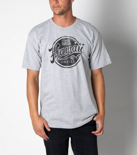 Surf O'Neill tee 100% ringspun cotton; 20 singles basic fit tee with softhand screenprint. - $12.99