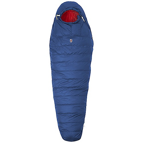 Camp and Hike Free Shipping. Fjallraven Sarek Three Seasons Sleeping Bag DECENT FEATURES of the Fjallraven Sarek Three Seasons Sleeping Bag Lightweight down sleeping bag with great insulation and high compress ability Down distributed with 60% in top and 40% in bottom Top layer down distributed to add loft at torso and feet to increase performance in low temperatures Easy to grab cord stopper and zip pullers in leather 3d hood with insulated cord channel Adjustable draft collar retains heat Full length 2-way zipper for easy ventilation Double draft tubes with zipper guards External accessory pocket Trapezoidal foot box with exterior hang loops Compressible stuff sack included Leather details The SPECS Fit: Mummy Filling: 90% goose down, 10% feather Fill power: 600 cubic inches Construction: Horizontal channels Shell: 20D polyamide Lining: 20D polyester Shoulder Width: 80 cm Foot Width: 55 cm Stuff Sack Weight: 130 g Comfort Women: -2deg C Lim Men: -8deg C Extreme: -26deg C The SPECS for Regular Weight: 1200 g Max User Length: 180 cm Fill Weight: 650 g The SPECS for Long Weight: 1300 g Max User Length: 195 cm Fill Weight: 700 g - $399.95