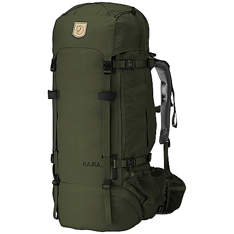 Fitness Features of the Fjallraven Women's Kajka 55 Pack Versatile with two pockets, one with key holder inside. Doubles as a chest or hip bag The entire front can be opened for a total overview of the contents Oversized side pockets provide extra storage space, now with even easier access Allows the attachment of equipment to the front of the backpack at the same time as the front straps Are prevented from falling to the ground when you open the pack Hidden compression poles run along the front of the backpack and help compress the pack evenly and efficiently. Upgraded with an easy removal function Compression poles allow the straps to sit far apart from one another without losing their function. This makes the side pockets easy to access, even when the compression straps Are drawn Give easy access to a water bottle even when wearing the backpack. Now larger to accommodate bigger Items. New construction of cord channel facilitates cord change The Wet and Dry compartment with internal mesh pocket makes it easy to separate wet or dirty equipment from the rest of your pack Leather details For easy attachment of your ground sheet or an extra jacket New, reinforced opening for a water tube Owner information covered by a flap Lift the Adjust flap and pull the strap to adjust the backpack to the length of your back. The width of the shoulders can be fixed in three positions. The combination of these adjustments customizes the pack specifically to your back. Kajka's system for adjusting the backpack to the back length and shoulder width of the weArer is extremely user-friendly Redesigned to cover a groundsheet or other equipment carried on the exterior of the pack Elongated frame and adapted adjustments of the top lid give a better Fit between the top lid and the pack, even when it is half empty With pockets for keys, telephone or chocolate. New fabrics at pockets: one in mesh, one in primary fabric Kajka is climate compensated for the emissions that arise in conjunction with its production and transportation. By supporting renewable energy projects reviewed by the un and certified in accordance with the Gold Standard, we can be certain that the compensation has the intended beneFit for the environment - $349.95