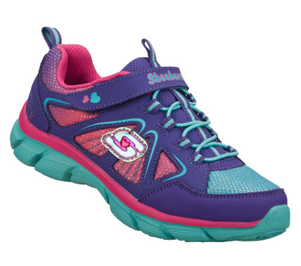 Entertainment Chasing her wishes gets even easier with the SKECHERS Lite Dreamz - Big Dreamz shoe.  Smooth trubuck leather and mesh fabric upper in a slip on bungee laced sporty casual sneaker with stitching and overlay accents. - $40.00