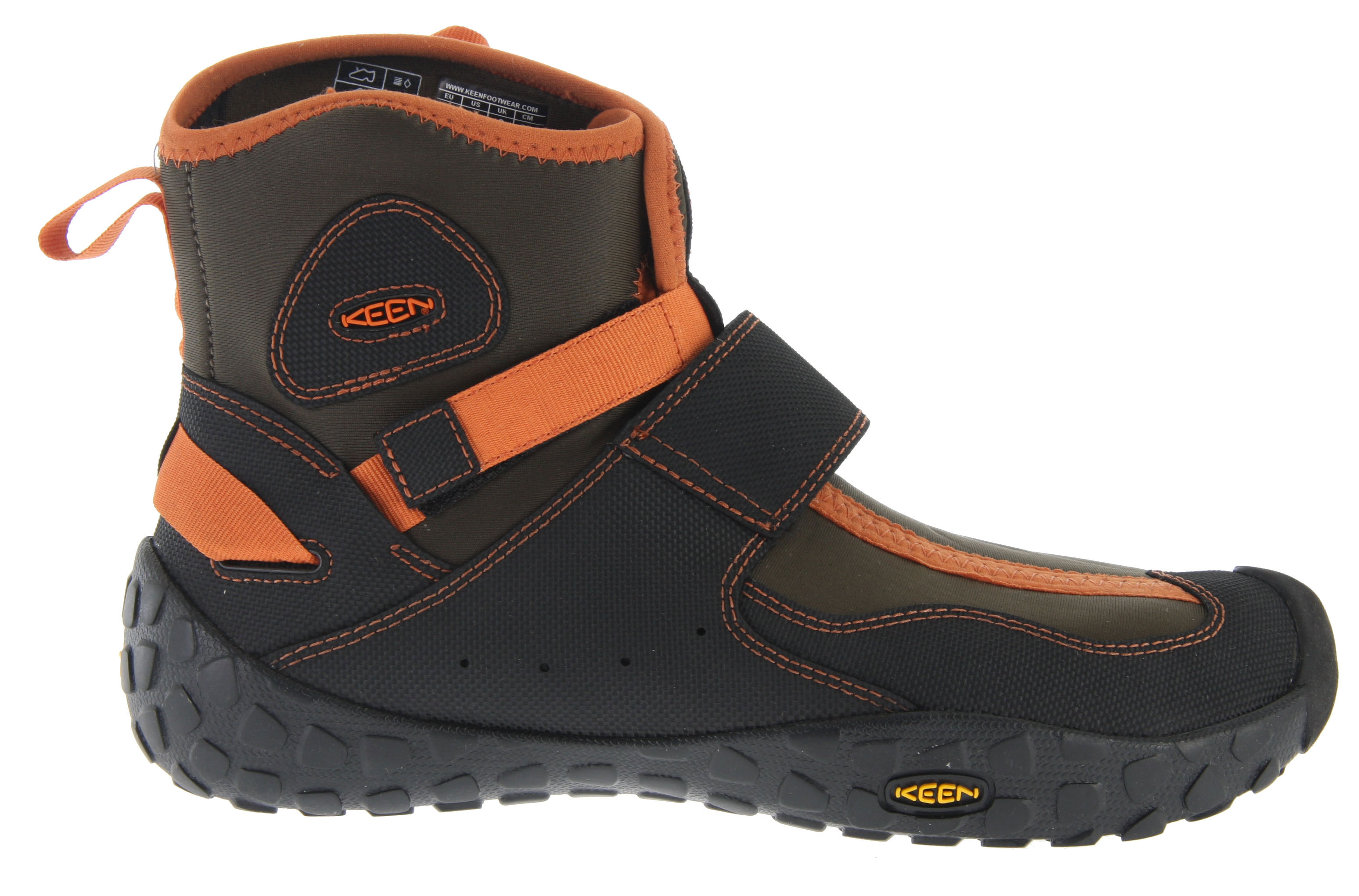 Kayak and Canoe KEEN designed this water bootie for our paddler friends, but that doesn't mean it's only for them. The Keen Gorge Boot is for anyone looking to keep cold out and comfort in. The 3mm neoprene keeps feet warm in the river (or any soggy place), the two strap system is easy to adjust even with frigid fingers, and the high traction outsole grips the most slippery surfaces.Key Features of the Keen Gorge Boots Water Shoes: Weight: 14.84 oz / 420.707 grams Fit Tip: We find this style runs pretty true to size. Lining: AEGIS Microbe Shield treated lining Upper: Abrasion resistant synthetic and 3MM neoprene upper Rubber: High traction, performance water outsole Activities: Paddle, Beach Type: Boots Weather: Wet - waterproof Abrasion resistant synthetic and 3MM neoprene upper AEGIS Microbe Shield treated lining High traction, performance water outsole Multi-point adjustable strap system Removable metatomical EVA molded footbed with AEGIS Microbe Shield Wrapped outsole with multi directional lug pattern Aegis Microbe Shield: Aegis Microbe Shield controls the bacteria and fungi that cause odors, stains and product deterioration. Aegis technology is free of environmentally harmful substances. - $58.95