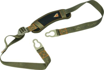 Hunting Its key-hole clip lets you attach and remove the carry strap to and from your bow in seconds for comfortable, stealthy carrying. Simply attach the straps to the bow and snap the sling in place. Over-molded rubber straps provide dampening, and stretch to fit any riser. Sling pivots for quiet, convenient transportation. Anti-slide neoprene shoulder pad. Imported. Color: Black/Olive. Color: Black/Olive. Type: Slings. - $8.88