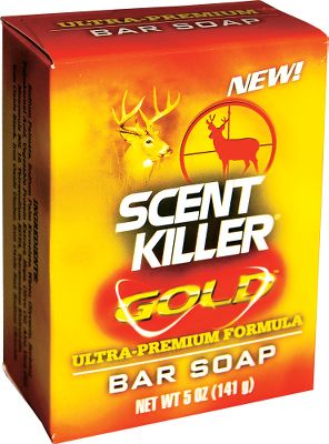 Hunting Enhanced with the premium Anti-Odor formula, Wildlife Researchs Scent Killer Gold Bar Soap fights human odor. Use the unscented, deep-cleaning soap before your hunt to reduce the risk of being noticed by wildlife. Per 5-oz. bar. Color: Gold. Type: Scent Control. - $6.49