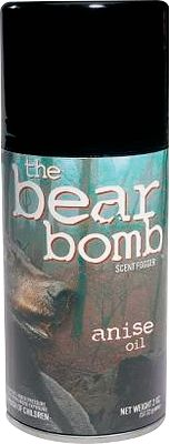 Hunting Bear Bomb Anise Oil scent has no nutritional value, so its not considered bait. Its effective when used with or without bait, and attracts wildlife from far away. As the scent drifts, it sticks to everything it comes in contact with, leaving a natural scent trail back to the source. Size: 5-oz. aerosol can. Color: Natural. - $8.49
