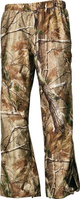 "Hunting Prois hunting garments for women combine technical hunting components, functional fabrics and an athletic composition with patterns cut for the female form. The Eliminator Series Pants are constructed of waterproof, breathable polyester with fully taped seams to stand up to the grueling demands of hunting in wet weather. Besides having a watertight laminate on the shell, these pants are remarkably soft and silent. The Prois signature nylon tricot lining provides ease of layering. Elastic waistband has an elastic drawstring and cord lock for an adjustable fit. Deep cargo pockets with pillow-top closures keep essentials dry. Cuffs with 9"" zippers fit easily over boots. Pull-on styling to use alone or for layering. Made in USA. Inseam for size Medium: 33"". Sizes: XS-XL. Camo patterns: Realtree AP, Realtree MAX-1. - $134.88"