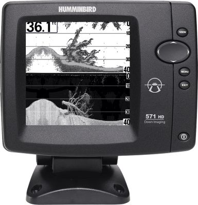 Fishing Add the Humminbird 571 HD DI to your fishing tactics, and youll get a high-definition, moment-to-moment, all-seeing view of everything beneath your boat. Humminbird has packed Down Imaging, SwitchFire and DualBeam PLUS behind this units 5, 16-level-grayscale, 640V x 320H display. Created by high-frequency sound waves that reach down to 350 feet, the Down Imaging delivers a straight down, clear and detailed snapshot of whats below. Using SwitchFire, the angler takes complete command of how the sonar images appear. With two unique display modes, you can adjust to your fishing conditions, add or remove details, account for depth and temperature. SwitchFires Clear Mode reduces undesired clutter in the water column in rough waters. In calmer waters, Max Mode delivers cover, structure, bait presentation, nearby fish and even water currents in incredible detail. Utilizing the DualBeam PLUS sonar, you get two sonar beams: one thats tightly focused on the bottom directly below, and the second more-expanded beam surrounds the first in order to detect fish in a much wider area. You can use these two beam independently, or have them work together for a crystal-clear picture of everything below the boat. 4,000-watt peak-to-peak. 500-watt RMS. One-year warranty. Color: Clear. - $234.88
