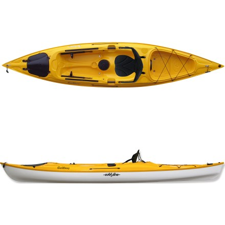 Kayak and Canoe The Eddyline Caribbean 12 sit-on-top kayak glides through the water with a high-quality hull construction and top-notch features. - $1,171.93
