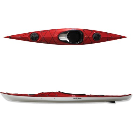 Kayak and Canoe Find the rhythm of the water in the Eddyline Samba kayak with skeg. With incredible quality built into the hull, you'll find it easy to maneuver and fun to paddle on any adventure. Unique hull construction offers the looks and performance of a composite kayak with the durability of plastic. Named Carbonite 2000 by Eddyline, a co-extruded ABS laminate creates a hull that rivals the qualities of fiberglass. Plastic is first shaped into a 2-layer sheet with durable interior and an abrasion- and UV-resistant exterior. Sheet is then thermorformed into the hull of the kayak using very high temperatures and a vacuum. This 2-layer plastic laminate offers incredible stiffness and a hard, glossy appearance that resists abrasion and impact while remaining easy to repair. Hard chines and a 22.5 in. beam provide medium initial stability and medium to high secondary stability; it's made to move smoothly and efficiently through the water. Adjustable seat and backband provide support and comfort; contoured thighbraces ensure a comfortable paddling position. Drop-down skeg allows for straight tracking; adjust its position to allow for crosswinds, current, or wave direction. Bulkheads and hatches, perimeter lines, deck bungees and retractable carry handles complete the package. The Eddyline Samba kayak weighs 43 lbs. - $1,927.93