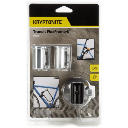 Fitness The Kryptonite Transit FlexFrame U Bracket secures most common U-locks for easy transportation as you ride. - $4.93