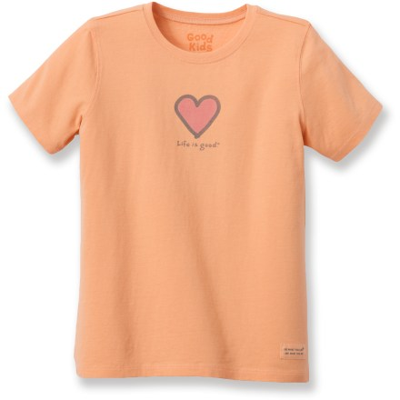 "Fitness She'll love to wear the Life is good(R) Heart Crusher T-shirt. Cotton is naturally soft, breathable and comfortable. ""Crushing"" process yields extra loft in fabric and doubles the softness. - $11.93"