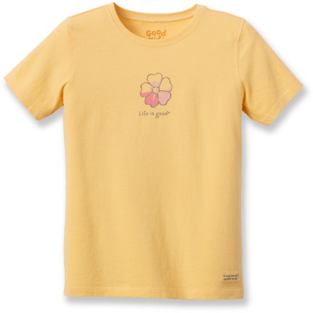 "Fitness The Life is good(R) Watercolor Hibiscus Crusher T-shirt is a fun T-shirt she'll love to wear. Cotton is naturally soft, breathable and comfortable. ""Crushing"" process yields extra loft in fabric and doubles the softness. - $11.93"