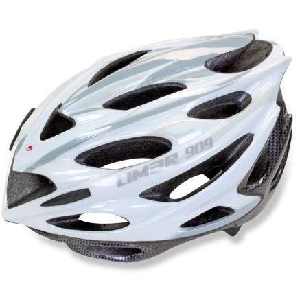 Fitness Aerodynamic style and 25 strategically placed vents make the Limar 909 road bike helmet a great companion for long rides whether you're racing, touring or just out exploring country roads. 25 vents provides aerodynamic efficiency and maximum breathability for comfort in warm weather; forward vents contain mesh netting to keep out bugs. In-mold technology fuses the liner to the microshell to create an exceptionally strong yet lightweight structure. Dial-fit system with height adjustment provides a secure, customized fit for maximum protection. Limar 909 road bike helmet features removable, machine-washable pads for moisture-wicking, antimicrobial performance. Overstock. - $79.73
