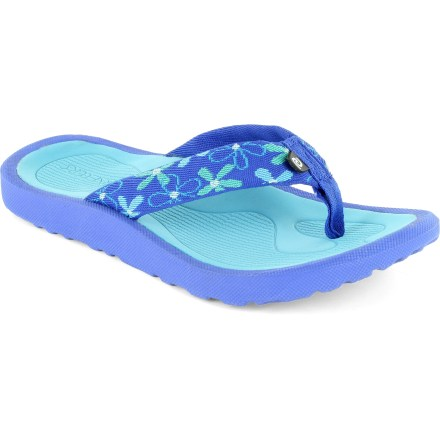 Surf Add an instant dose of summer fun to her flip-flop collection with the cute, colorful Breeze flip-flops from Rafters. Sturdy synthetic straps gently wrap insteps for a secure fit. Thick, soft EVA topsoles and midsoles cushion feet and deliver arch support for all-day comfort. Rubber outsoles provide reliable traction on a variety of surfaces. Special Buy. - $8.73
