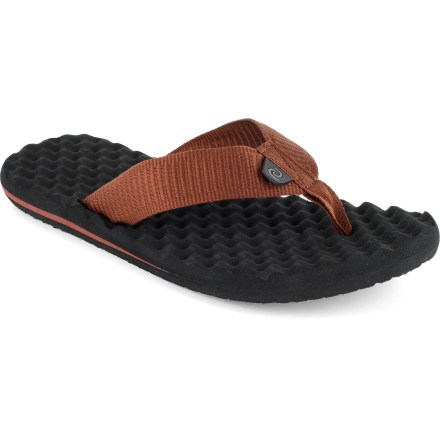 Surf When the skies clear and the beach calls, slide into the Rafters Cloudbreak flip-flops to soak up the sunshine. Synthetic webbing straps keep your feet secure. EVA topsoles and midsoles provide cushioned support. EVA outsoles offer traction on varied surfaces. Special buy. - $8.73