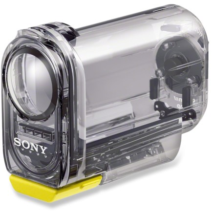 Entertainment The rugged Sony Action Cam waterproof case makes your Action Cam (sold separately) waterproof down to 60m (197 ft.), and nearly impervious to mud, snow and grime. - $39.95