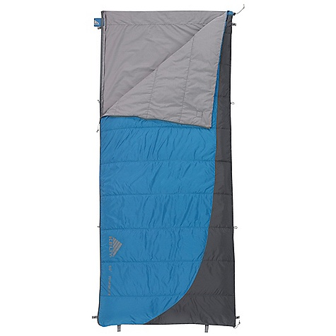 Camp and Hike Free Shipping. Kelty Tumbler 50 - 70 Sleeping Bag DECENT FEATURES of the Kelty Tumbler 50 / 70 Sleeping Bag Quilt-through construction Dual slider, locking blanket zipper Can be fully unzipped and opened flat for use as a blanket Internal liner loops Sleeping pad security loops Hang loops for storage Stuff sack included FatMan and Ribbon drawcords Captured cordlock Two bags can be zipped together to form a double-wide Flip-over construction, keeps you comfortable in varying temps The SPECS Temperature Rating: 50deg/ 70deg F 10deg/ 21deg C Shape: Rectangular Insulation: CloudLoft Shall: 50D Polyester Ripstop Liner: Polyester-Cotton Fits To: 6'6in. / 183 cm Length: 80in. / 203 cm Shoulder Girth: 68in. / 173 cm Fill Weight: 12 oz / 0.34 kg Total Weight: 1 lb 14 oz / 0.84 kg Stuff Diameter: 7in. / 18 cm Stuff Length: 11in. / 28 cm - $54.95