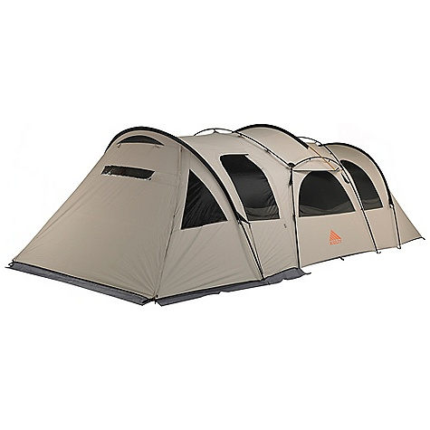 Camp and Hike Free Shipping. Kelty Frontier Ponderosa Tent DECENT FEATURES of the Kelty Frontier Ponderosa Tent Freestanding design Taped floor seams Closable mesh door panels Internal storage pockets Fly vents Noiseless zipper pulls Guyout points Guyline storage pocket Closeable mesh vestibule panels Double track vestibule The SPECS Capacity: 8 person Seasons: 3 Number of Doors: 3 Number of Vestibules: 1 Number of Poles: 7 Pole Type: DAC Hybrid Wall: Poly Cotton Floor: 210d poly, 3000 mm Minimum Weight: 48 lbs 4 oz / 21.9 kg Packaged Weight: 50 lbs 13 oz / 23 kg Floor Area: 152 square feet / 14.13 square meter Vestibule Area: 78.5 square feet / 7.3 square meter Dimension: 184 x 120 x 82in. / 467 x 305 x 208 cm Packed Dimension: 14 x 28in. / 36 x 71 cm - $1,499.95