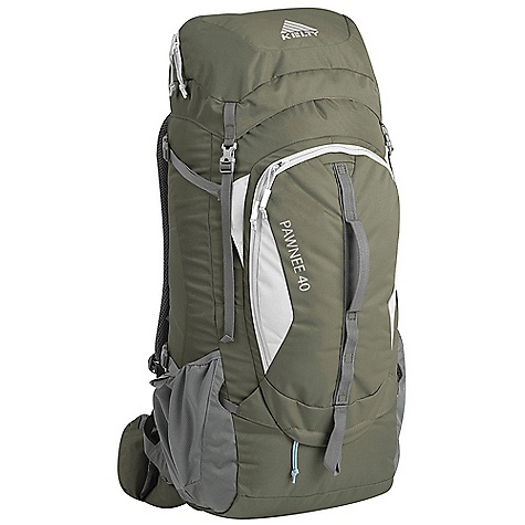 Camp and Hike Free Shipping. Kelty Pawnee 40 Pack DECENT FEATURES of the Kelty Pawnee 40 Pack Top loading Side access into pack Hydration compatible Pack cover included Ice-axe loop Daisy chain Hipbelt pocket Large front pocket with organization Key fob LightBeam single aluminum stay Dynamic AirFlow back panel AirMesh shoulder straps, waist belt, and lumbar Dual density foam waist belt Hipbelt stabilizer straps Scherer Cinch (US Pat#5,465,886) Padded shoulder straps Load-lifter/stabilizer straps The SPECS Suspenstion: Lightbeam Fixed Suspension System Body: 420D Polyester Ball Shadow Reinforcement: 450D Polyester Oxford The SPECS for S/M Volume: 2300 cubic inches / 38 liter Weight: 3 lbs 2 oz / 1.6 kg Dimension: 26 x 11 x 11in. / 66 x 38 x 38 cm Torso Fit Range: 14.5 - 18.5in. / 37 - 47 cm The SPECS for M/L Volume: 2500 cubic inches / 41 liter Weight: 3 lbs 4 oz / 1.5 kg Dimension: 28 x 11 x 11in. / 71 x 28 x 28 cm Torso Fit Range: 17.5 - 21in. / 44 - 53 cm - $139.95
