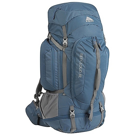 Camp and Hike Free Shipping. Kelty Red Cloud Junior 65 Pack DECENT FEATURES of the Kelty Red Cloud Junior 65 Pack Sleeping bag compartment Front-panel access Hydration compatible Lower compression and pad straps Ice-axe loop Zippered side pockets Hipbelt pocket Large front pocket with organization LightBeam single aluminum stay AirMesh shoulder straps, waist belt, and lumbar Hipbelt stabilizer straps Scherer Cinch (US Pat#5,465,886) Padded waist belt Padded shoulder straps Load-lifter/stabilizer straps Sternum strap The SPECS Volume: 3900 cubic inches / 64 liter Weight: 4 lbs 1 oz / 1.8 kg Dimension: 29 x 13 x 10in. / 73 x 33 x 25 cm Suspenstion: Lightbeam Adjustable Suspension System Torso Fit Range: 14 - 18in. / 35 - 46 cm Body: 420D Polyester Ball Shadow Reinforcement: 450D Polyester Oxford - $179.95