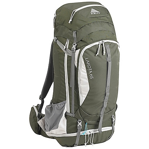 Camp and Hike Free Shipping. Kelty Lakota 65 Pack DECENT FEATURES of the Kelty Lakota 65 Pack Top loading Sleeping bag compartment Side access into pack Hydration compatible Lower compression and pad straps Pack cover included Ice-axe loop Hipbelt pocket Large front pocket with organization LightBeam single aluminum stay Dynamic AirFlow back panel AirMesh shoulder straps, waist belt, and lumbar Dual density foam waist belt Hipbelt stabilizer straps Scherer Cinch (US Pat#5,465,886) Padded shoulder straps Load-lifter/stabilizer straps Sternum strap The SPECS Torso Fit Range: 14.5 - 18.5in. / 37 - 47 cm Volume: 3900 cubic inches / 64 liter Weight: 3 lbs 10 oz / 1.6 kg Length: 30in. / 76 cm Width: 12in. / 30 cm Depth: 12in. / 30 cm Body Fabric: 420D Polyester Ball Shadow Reinforcement Fabric: 450D Polyester Oxford Suspension: Lightbeam Fixed Suspension System - $179.95