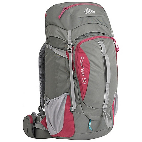 Free Shipping. Kelty Women's Pawnee 50 Pack DECENT FEATURES of the Kelty Women's Pawnee 50 Pack Top loading Side access into pack Hydration compatible Pack cover included Ice-axe loop Daisy chain Hipbelt pocket Large front pocket with organization Key fob LightBeam single aluminum stay Dynamic AirFlow back panel AirMesh shoulder straps, waist belt, and lumbar Dual density foam waist belt Hipbelt stabilizer straps Scherer Cinch (US Pat#5,465,886) Padded shoulder straps Load-lifter/stabilizer straps The SPECS Torso Fit Range: 14.5 - 18.5in. / 37 - 47 cm Volume: 3000 cubic inches / 49 liter Weight: 3 lbs 6 oz / 1.5 kg Length: 27in. / 68 cm Width: 13in. / 33 cm Depth: 11in. / 28 cm Body Fabric: 420D Polyester Ball Shadow Reinforcement Fabric: 450D Polyester Oxford Suspension: Lightbeam Fixed Suspension System - $169.95