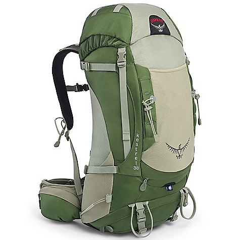Camp and Hike On Sale. Free Shipping. Osprey Kestrel 38 Backpack DECENT FEATURES of the Osprey Kestrel 38 Backpack LightWire frame AirScape backpanel Torso-adjustable harness Stretch mesh front pocket Stretch mesh side pockets Zippered hipbelt pockets Front daisies with bungee tie-offs Dual ice tool loops Stow-on-the-Go trekking pole attachment Reverse StraightJacket compression straps Integrated raincover External Hydration Sleeve Fixed top pocket with gear loops and dual zippered compartments Under-lid zippered mesh pocket Top loader Removable sleeping pad straps Zippered sleeping bag compartment with drop-down divider Suspension Fixed top pocket with gear loops and dual zippered compartments Under-lid zippered mesh pocket Top loader Removable sleeping pad straps Zippered sleeping bag compartment with drop-down divider Dual vertical zippered side pockets The SPECS 420D nylon packcloth 210 double diamond nylon Dimension: (H x W x D): 33 x 16 x 1in. / 77 x 40 x 30 cm The SPECS for S/M Volume: 2563 cubic inches / 42 liter Weight: 2 lbs 3 oz / 1.09 kg The SPECS for M/L Volume: 2685 cubic inches / 44 liter Weight: 2 lbs 7 oz / 1.11 kg OVERSIZE ITEM: We cannot ship this product by any expedited shipping method (3-Day, 2-Day or Next Day). Even if you pick that option, it will still go Ground Shipping. Sorry for being so mean. - $109.99