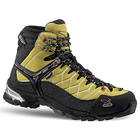 Camp and Hike Free Shipping. Salewa Men's MS Alp Trainer Mid GTX Boot DECENT FEATURES of the Salewa Men's MS Alp Trainer Mid GTX Boot Multi Fit Footbed allows an individual adjustment of the fit Climbing Lacing provides more accurate lacing in the toe area gives more support and performance Salewa 3F System offers an unbeatable combination of ankle flexibility, lateral support, and perfection in fit Upper: 1,8mm full suede upper Lining: GORE-TEX Extended Comfort Outsole: Vibram Hike Approach The SPECS Weight: 590 g (size 9) - $198.95