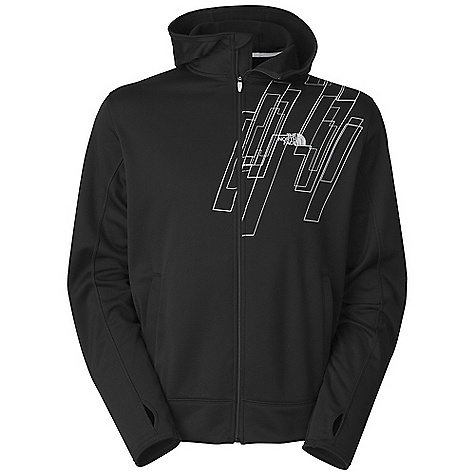 Free Shipping. The North Face Men's Surgent Printed Full Zip Hoodie DECENT FEATURES of The North Face Men's Surgent Printed Full Zip Hoodie Relaxed fit Hand pockets Hidden media pocket Thumb loops Three-piece hood with liner The SPECS Center Back Length: 27.5in. 210 g/m2 (6.2 oz/yd2) 100% polyester jersey-faced fleece-UPF 50 This product can only be shipped within the United States. Please don't hate us. - $74.95
