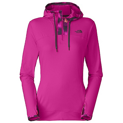 Free Shipping. The North Face Women's Cypress 1-2 Zip Hoodie DECENT FEATURES of The North Face Women's Cypress 1/2 Zip Hoodie Lightweight four-way stretch knit Fitted hood with print binding and drawcord Underarm gussets for endless mobility Two zip hand pockets Thumb holes The SPECS Average Weight: 14 oz / 390 g Center Back Length: 25in. 20D 187 g/m2 (6.596 oz/yd2) 88% polyester, 12% elastane stretch knit This product can only be shipped within the United States. Please don't hate us. - $74.95