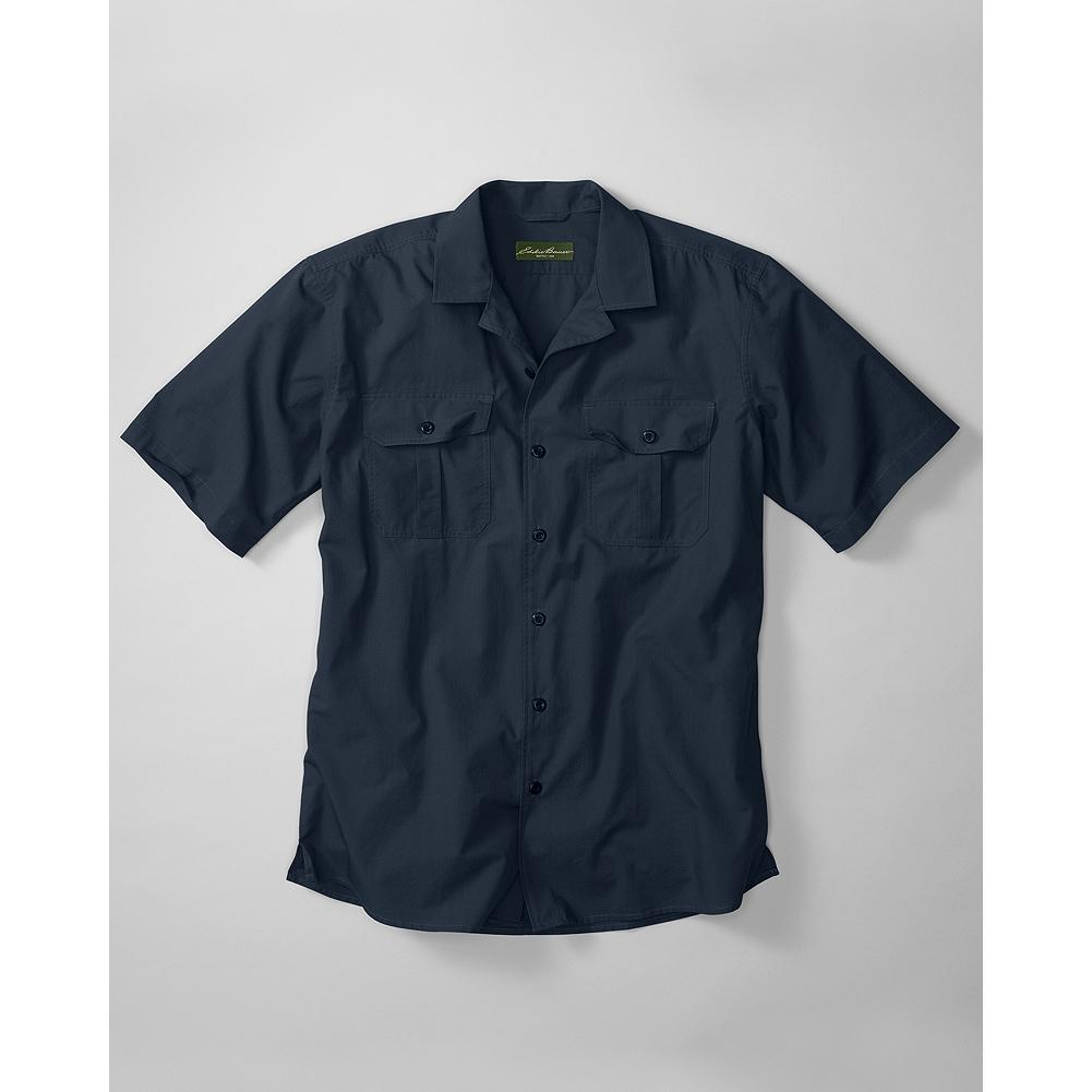 Camp and Hike Eddie Bauer Classic Fit Versatrex Ripstop Camp Shirt - We start with 100% durable 3.9 oz. cotton ripstop fabric that resists tearing when you're out on the trail or stacking wood at the cabin. Double-needle topstitching adds to that durability by beefing up the strength of the seams and box-pleat pockets. Comfort and ease of movement is enhanced with the addition of back pleats. - $29.99