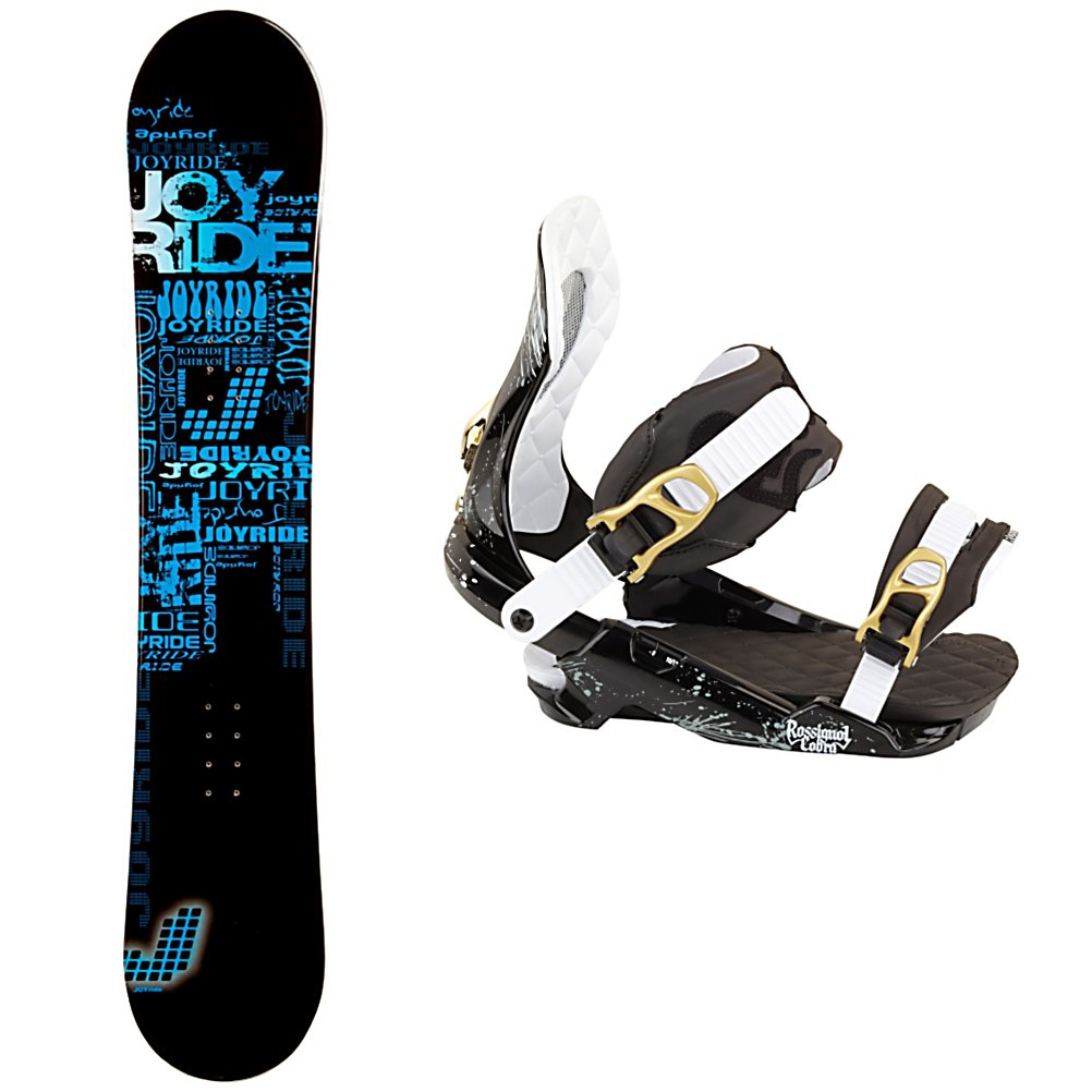 Snowboard Joyride Text Blue Snowboard and Binding Package - The JoyRide Text Blue Snowboard Package is a great way to get away from the rental lines and hit the mountain with a board you can call your own. The JoyRide Text Blue Snowboard has a great edge hold making those turns a little easier to master. It boasts a camber profile which is poppy and responsive so you can work on some of the tricks and jumps you've been eyeing in the park. You'll have the Rossignol Cobra V1 Bindings helping your feet remain in good shape for the duration of your time on the mountain. The HCX-18 Baseplate is the ultimate combination of shock absorption and responsiveness and Tallboy Straps offer high-density foam on the upper and lower sections of the strap provide increased energy transfer. This all means greater comforter and longer time spent doing what you love. The JoyRide Text Blue Snowboard Package has a soft and forgiving board with a comfortable binding to help make your entry into the snowboarding sport an easy and fun one. . Recommended Use: All-Mountain, Snowboard Rocker Profile: Camber, Package Type: Board and Bindings, Skill Range: Beginner - Advanced Intermediate, Product ID: 311175, Gender: Mens, Skill Level: Beginner - $229.99