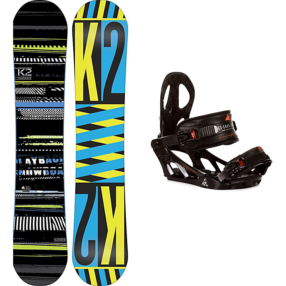 Snowboard K2 Playback Snowboard and Binding Package - Steady and easy to turn, the combination of the board and bindings makes the K2 Playback Snowboard Package an awesome grab. The K2 Playback Snowboard is a twin shaped freestyle board built with Flatline underneath your feet. The Playback has a ton of pop and super-smooth neutral feel for dialing yourself in going across boxes and rails. The Hybritaper reduces swing weight allowing riders an easier transition into a switch stance. The K2 Sonic Bindings are made with a Solid polycarbonate Pro-FusionPC Chassis design coupled with the proven Airframe Highback to give you a forgiving flex. When you want to destroy everything you come across in the park, you'll want the K2 Playback Snowboard Package. . Recommended Use: Freestyle, Snowboard Rocker Profile: Flat, Package Type: Board and Bindings, Skill Range: Beginner - Advanced Intermediate, Model Year: 2013, Product ID: 311247, Gender: Mens, Skill Level: Beginner - $289.99