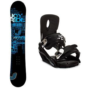Snowboard Joyride Text Blue Snowboard and Binding Package - The JoyRide Text Blue Snowboard Package is a great way to get away from the rental lines and hit the mountain with a board you can call your own. The JoyRide Text Blue Snowboard has a great edge hold making those turns a little easier to master. It boasts a camber profile which is poppy and responsive so you can work on some of the tricks and jumps you've been eyeing in the park. The 5th Element Stealth 2 Bindings are a soft flexing binding which is forgiving enough to accommodate any inexperienced rider. A thick but soft flexing ankle strap provides the support and response needed to progress and padding underfoot dampens vibration and eliminates shock. Simple, smooth gliding ratchets make for easy entry and exit while tool-less adjustments allow you to customize this binding to any boot on the fly. The JoyRide Text Blue Snowboard Package has a soft and forgiving board with a comfortable binding to help make your entry into the snowboarding sport an easy and fun one. . Recommended Use: All-Mountain, Snowboard Rocker Profile: Camber, Package Type: Board and Bindings, Skill Range: Beginner - Advanced Intermediate, Product ID: 311094, Gender: Mens, Skill Level: Beginner - $199.91