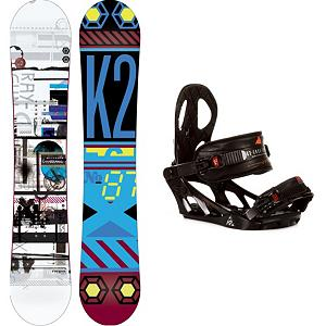 Snowboard K2 Raygun Snowboard and Binding Package - If you're looking for a ride that will take you all over the mountain then look no further than the K2 Raygun Snowboard Package. The K2 Raygun comes equipped with All-Terrain Rocker which provides a smooth ride on all snow conditions. Hybritaper keeps it light and reduces swing weight making this snappy and responsive. The K2 Sonic Bindings are made with a Solid polycarbonate Pro-FusionPC Chassis design coupled with the proven Airframe Highback to give you a forgiving flex. If you want to progress to the next level and have an awesome day on the mountain then you'll want to have this K2 Raygun Snowboard Package. . Recommended Use: All-Mountain, Snowboard Rocker Profile: Rocker, Package Type: Board and Bindings, Skill Range: Intermediate - Advanced, Model Year: 2013, Product ID: 311240, Gender: Mens, Skill Level: Intermediate - $305.98