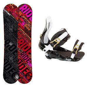 Snowboard Ride Kink Snowboard and Binding Package 2013 - If you want a true park board then you'll want to pick up this Ride Kink Snowboard Package. This board and binding combo is designed for the rider who wants to spend their days as a freestyle rider. The Ride Kink Snowboard is buttery smooth and has a low swing weight so you can boost your freestyle game. It can take a beating with the impact absorbing urethane Slimewalls and the beefy Cleave Edge 50 percent larger than an average edge and can be detuned more than your average edge. You'll have the Rossignol Cobra V1 Bindings helping your feet remain in good shape for the duration of your time on the mountain. The HCX-18 Baseplate is the ultimate combination of shock absorption and responsiveness and Tallboy Straps offer high-density foam on the upper and lower sections of the strap provide increased energy transfer. This all means greater comforter and longer time spent doing what you love. For durability on a fun and forgiving ride, check out Ride's Kink Snowboard Package. . Recommended Use: Freestyle, Snowboard Rocker Profile: Rocker, Package Type: Board and Bindings, Skill Range: Intermediate - Advanced, Model Year: 2013, Product ID: 311225, Gender: Mens, Skill Level: Intermediate - $349.99