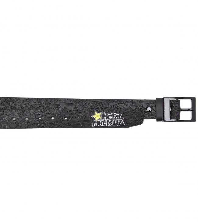 Motorsports Rockstar Metal Mulisha belt with interchangeable buckle and allover debossed screen print. - $14.99
