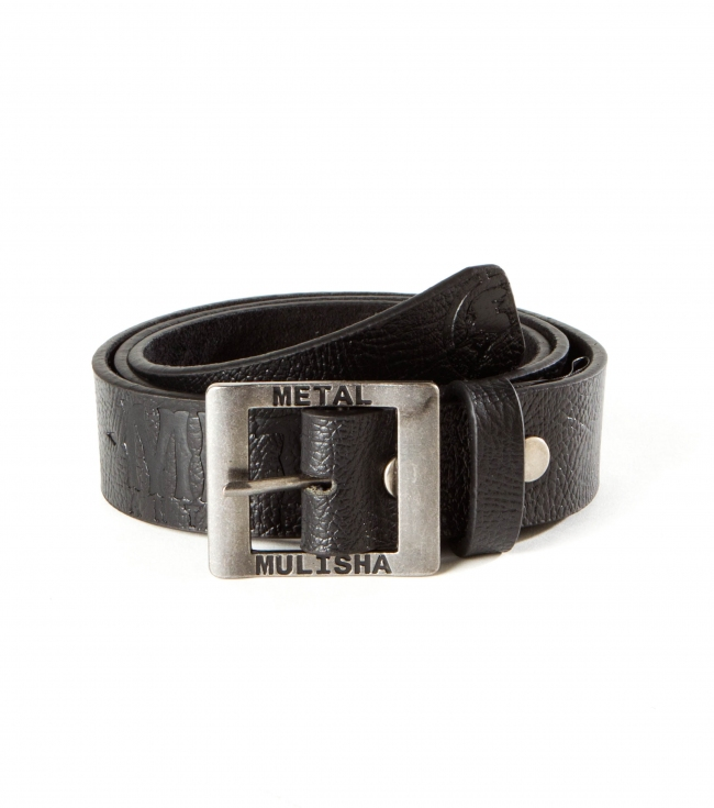 Fitness Metal Mulisha mens real leather belt with antique finish buckle and logo art. - $18.99