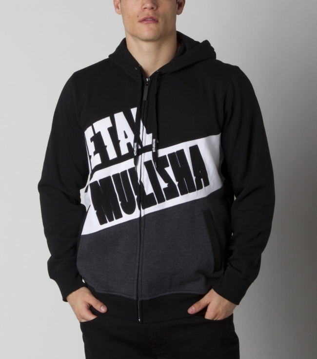 Motorsports Metal Mulisha mens zip front hoodie with 2 front pockets and large logo screen art on the front. - $38.99