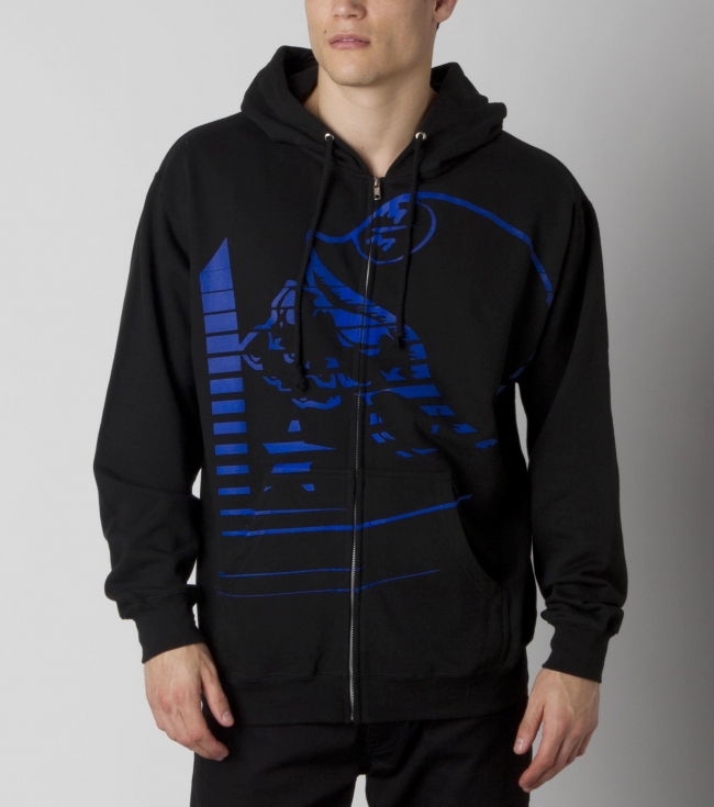 Motorsports Metal Mulisha mens zip front hoodie with logo screen art. - $30.99