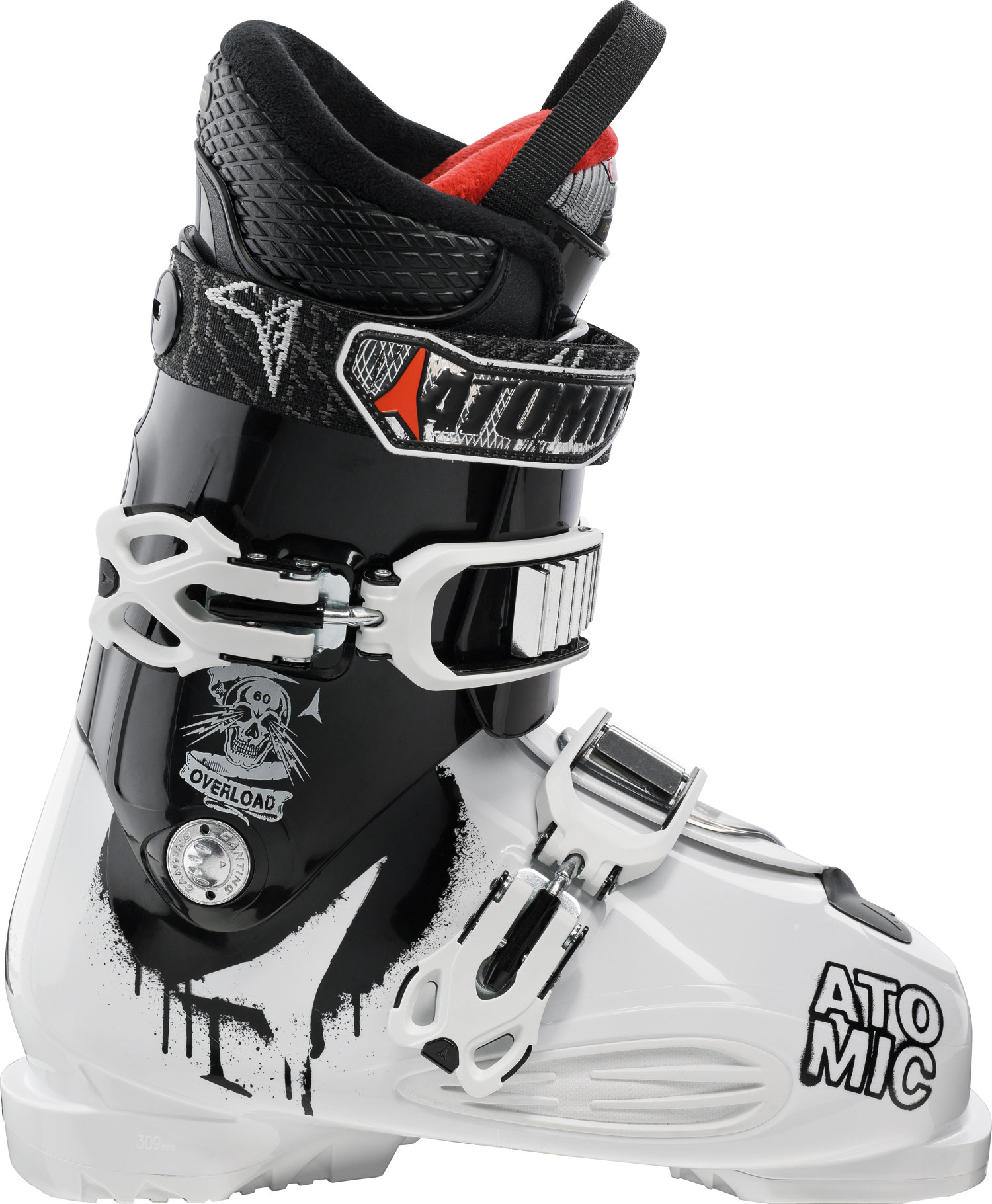 Ski Key Features of the Atomic Overload 60 Ski Boots: 60 Flex Mega PC buckle 35mm strap ASY Comfort Liner - $174.95