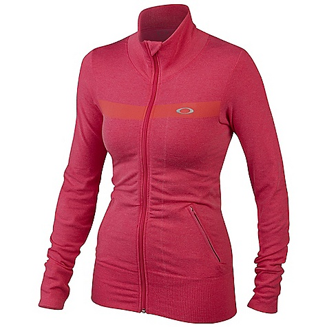 Free Shipping. Oakley Women's Cool Down Jacket DECENT FEATURES of the Oakley Women's Cool Down Jacket O Hydrolix fabric manages moisture to reduce the effects of sweat Seamless construction minimizes irritations Stretch fabric moves with you without restriction Fitted design contours to your shape Anti-bacterial action reduces odor-causing microbes 54% Nylon / 42% Polyester / 4% Spandex - $88.00