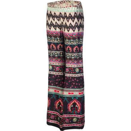 Surf If you're into peace, love, and bell bottoms, then you'll adore the Billabong Beauty Bells Women's Pant. The loose-fitting rayon fabric is ultra-soft to keep you comfortable throughout the day, and features a multicolored print and flared legs to help bring out the flower child in you. - $43.95