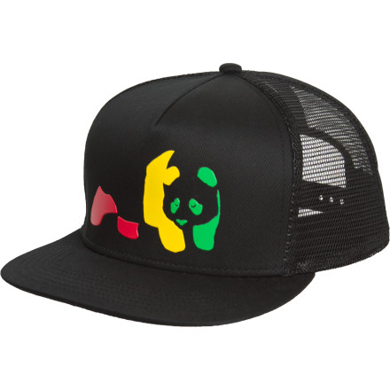 Entertainment Don't put too much stock in the judgement of the Enjoi Jamaican Me Crazy Trucker Hatit's a few apples short of a full deck. A snap-back adjustment lets you hand this rasta-colored hat off to a buddy should you feel a little too nutty to continue wearing it. - $20.95