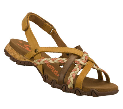 Surf Enjoy the warm weather even more wearing the SKECHERS Bikers - Tree Hugger sandal.  Smooth leather and synthetic upper in a strappy casual slide sandal with heel sling and braided strap details. - $60.00