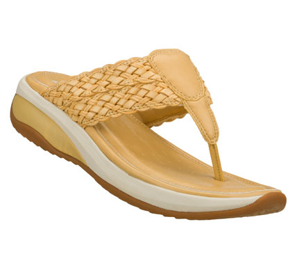 Surf Improve your comfort factor easily with the SKECHERS Relaxed Fit(R): Promotes sandal.  Smooth faux leather upper in a casual comfort thong sandal with woven detail and stitching accents. - $55.00