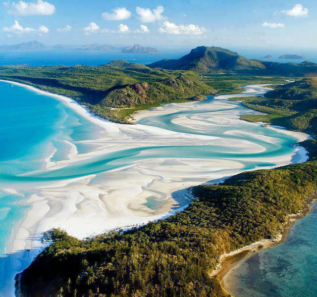 Camp and Hike Fascinating Whitehaven Beach in Australia