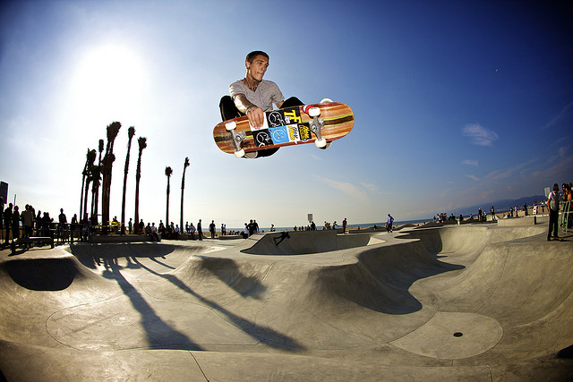 Skateboard Frontside Air - Venice Beach